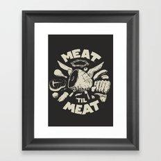 Meat Framed Art Print