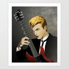 Bowie Portrait Art Print