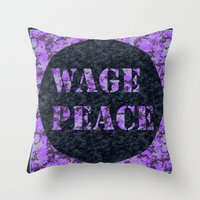 WAGE PEACE Throw Pillow