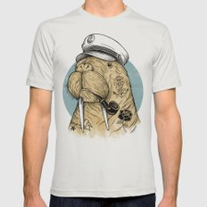WALRUS Mens Fitted Tee Silver SMALL
