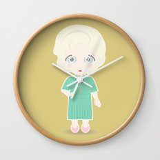 Girls in their Golden Years - Rose Wall Clock
