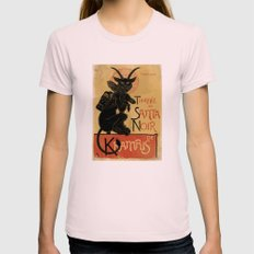 Merry Krampus Womens Fitted Tee Light Pink SMALL