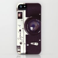 iPhone 5s & iPhone 5 Cases featuring Zorki vintage camera by bomobob