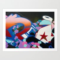 Wall Graffiti Art Print