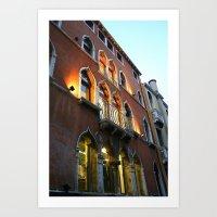 Lit Venice Residence Art Print
