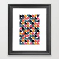Quarter pattern Framed Art Print