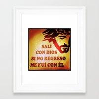Sali con Dios Framed Art Print