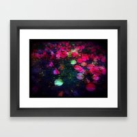 Tumbled Lanterns Framed Art Print
