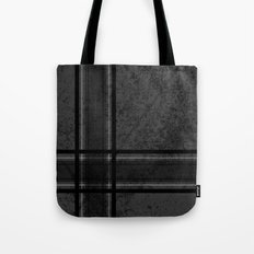 Grungy Grey Plaid Tote Bag