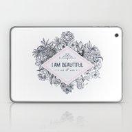 I Am Beautiful As I Am ! Laptop & iPad Skin