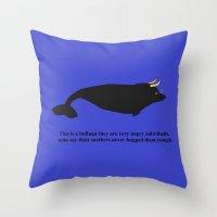 Bulluga Throw Pillow