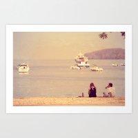 Sea & Love Art Print