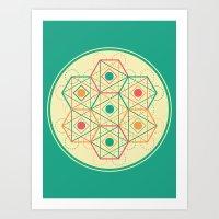 Yey! Shapes!  Art Print