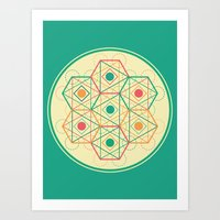 Yey! Shapes!  Art Print