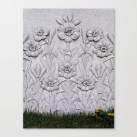 Stone Flowers Canvas Print