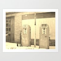 Gas Freeze Art Print