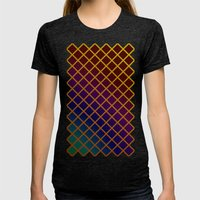 Geometric Abstraction. Womens Fitted Tee Tri-Black SMALL