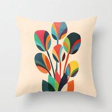 Ikebana - Geometric flower  Throw Pillow