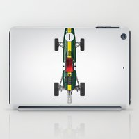 Outline Series N.º1, Jim Clark, Lotus 25-Coventry Climax 1962 iPad Case
