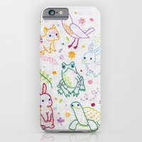 iPhone & iPod Case featuring Picnic Pals minis embroidery by Penguin & Fish