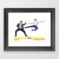 Boss Fight Framed Art Print