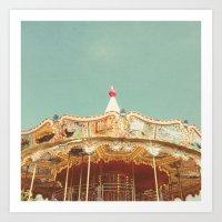 Carousel Lights Art Print