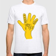 Palmistry Rock And Roll Mens Fitted Tee Ash Grey SMALL