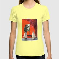 Beware Of The Obvious Womens Fitted Tee Lemon SMALL