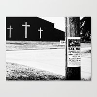 Wrestling with Religion Canvas Print