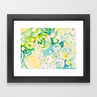 Circle Experiment Framed Art Print