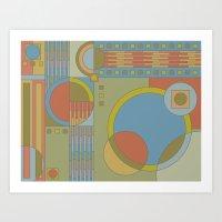 art and crafts circles Art Print