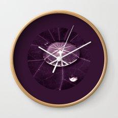 purple water drop XVI Wall Clock