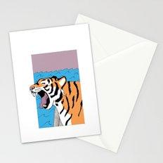Tiger Yawn Stationery Cards
