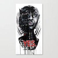YES Wolf Canvas Print