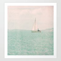 white ship Art Print