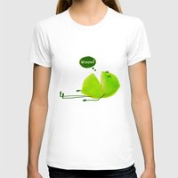 Lime Womens Fitted Tee White SMALL