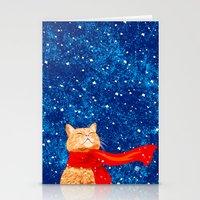 Tabby loves Snow... Stationery Cards