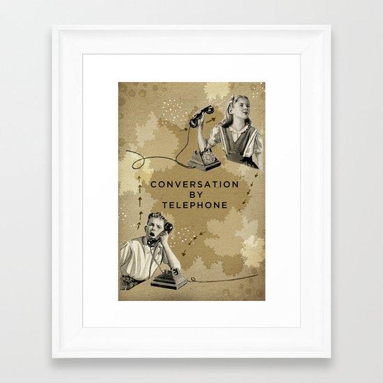 Conversation by Telephone Framed Art Print