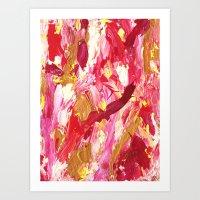 Hot Pink Mess Abstract Art Print