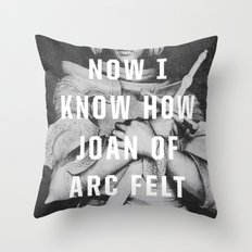 Joan Of Arc Throw Pillow