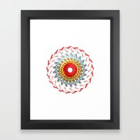 Radial Five Framed Art Print