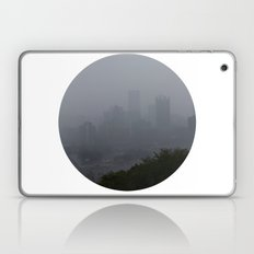 Pittsburgh in the Fog [circle] Laptop & iPad Skin