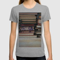 vintage pages Womens Fitted Tee Athletic Grey SMALL