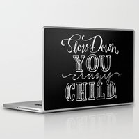 lyrics Laptop & iPad Skins featuring Vienna Hand Lettering Lyrics by The Raven and The Writing Desk