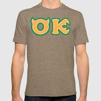 Monster University Fraternity : Oozma Kappa Mens Fitted Tee Tri-Coffee SMALL