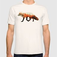 Norwegian Woods: The Fox Mens Fitted Tee Natural SMALL