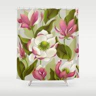 Magnolia Bloom - Daytime… Shower Curtain