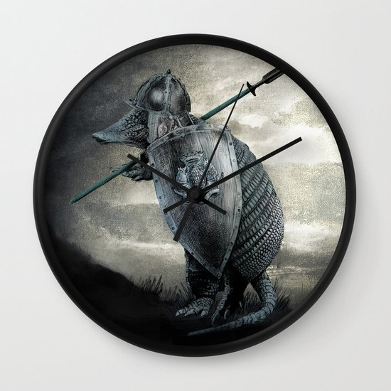 Armadillo by Eric Fan & Viviana Gonzalez Wall Clock