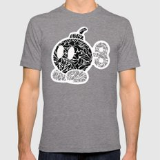 Bob Omb #CrackedOutBadGuys Mens Fitted Tee Tri-Grey SMALL