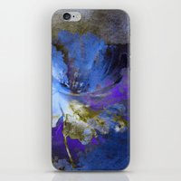 Blue Abstract Flower And… iPhone & iPod Skin